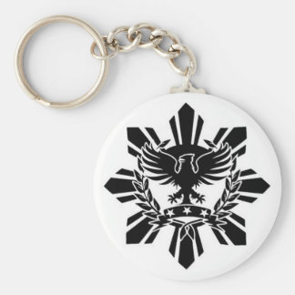Filipino sun and eagle crest key ring