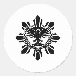 Filipino sun and eagle crest stickers