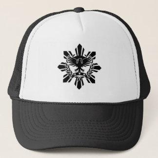 Filipino sun and eagle crest trucker hat