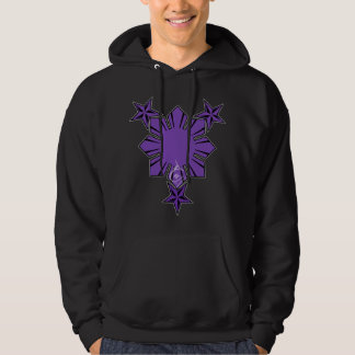 Filipino Sun and Stars Hoody Purple