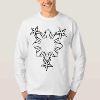 Filipino Sun and Stars Long Sleeve Shirt