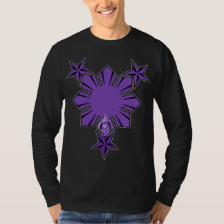 Filipino Sun and Stars Long Sleeve Shirt Purple