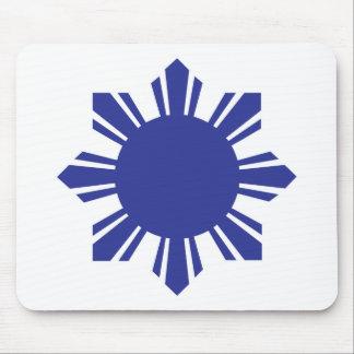 Filipino Sun - Blue Mouse Pad