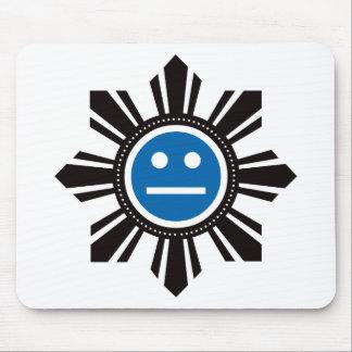 Filipino Sun Face - Blue Mouse Pad