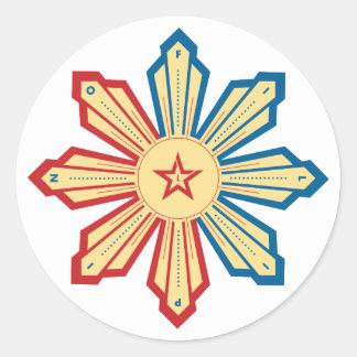 Filipino Sun - LS Round Sticker