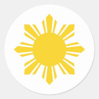 Filipino Sun | Philippines Sun Round Sticker