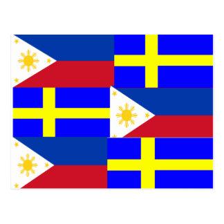 FILIPINO-SWEDISH POSTCARD