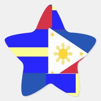 FILIPINO-SWEDISH STAR STICKER