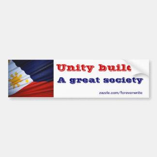 filipino unity car bumper sticker