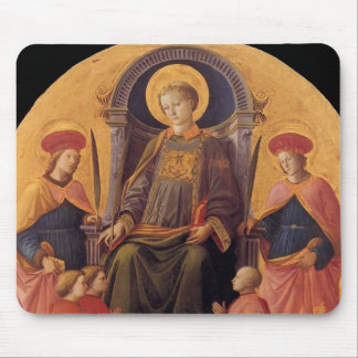Filippo Lippi- St. Lawrence Enthroned with Saints Mousepad