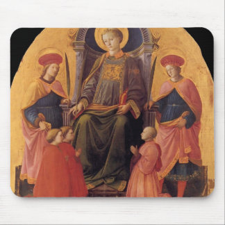 Filippo Lippi- St. Lawrence Enthroned with Saints Mouse Pads