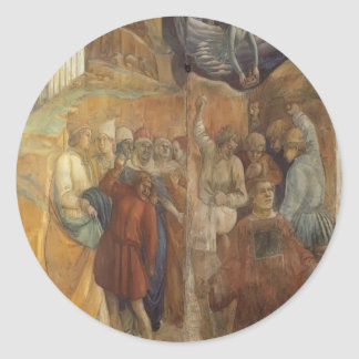 Filippo Lippi: The Martyrdom of St. Stephen Round Sticker