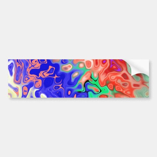 Fill Abstract Bumper Sticker