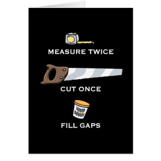 Fill Gaps Greeting Card