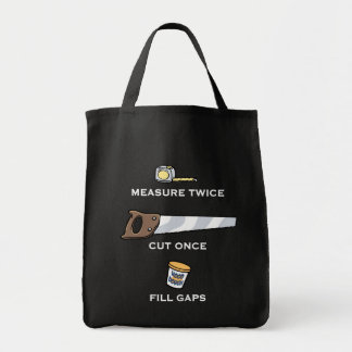 Fill Gaps Grocery Tote Bag