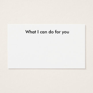 Fill in the blank business card