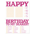 Fill in the blank Happy Birthday! Postcard
