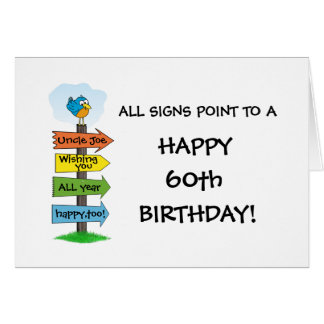 Fill-In The Signs Fun 60th Birthday Card