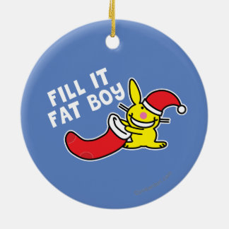 Fill It Fat Boy Christmas Ornament