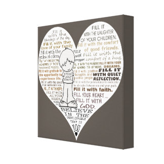 Fill Your Heart-Dark Brown Canvas Prints