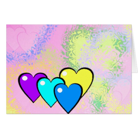 Filled Hearts Card ~ customisable all occasions!