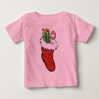 Filled Santa Stocking Baby T-Shirt