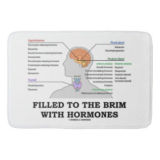 Filled To The Brim With Hormones Anatomical Humor Bath Mats