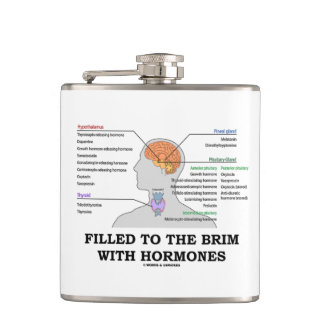 Filled To The Brim With Hormones Anatomical Humor Flasks