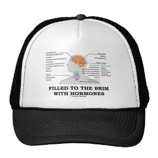 Filled To The Brim With Hormones (Anatomy) Trucker Hats