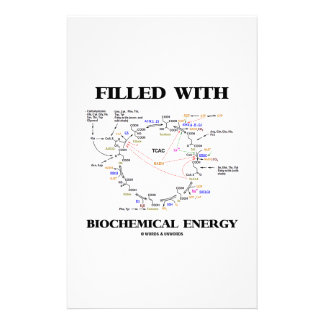 Filled With Biochemical Energy (Krebs Cycle) Stationery Design