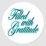 Filled with Gratitude sticker