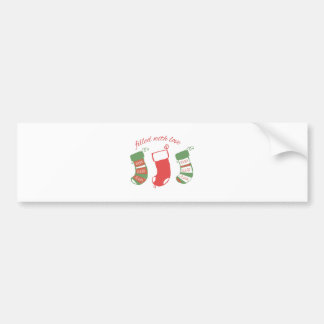 Filled With Love Bumper Stickers
