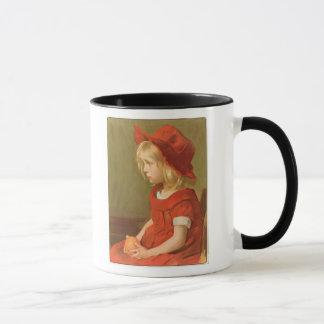 Fillette a l'orange mug