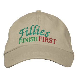 Fillies Finish FIRST - Horse Racing by SRF Embroidered Hat