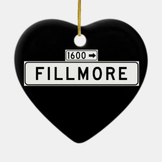 Fillmore St., San Francisco Street Sign Ceramic Heart Decoration