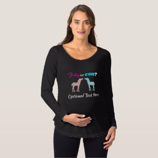 Filly Or Colt Western Style Gender Reveal Maternity T-Shirt