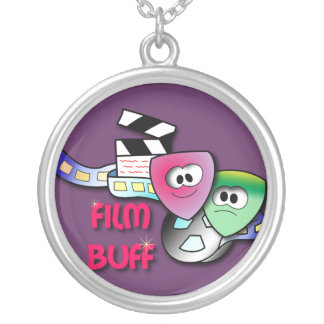 Film Buff Round Pendant Necklace