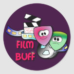Film Buff Round Stickers