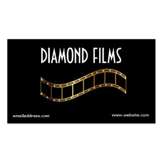 Film Business Card Design Metallic Gold Film Strip