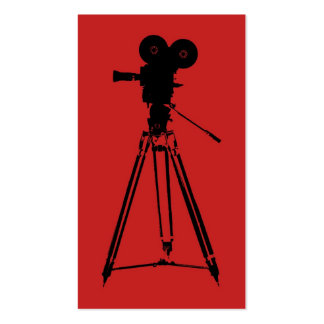 Film Camera Man Red Pack Of Standard Business Cards