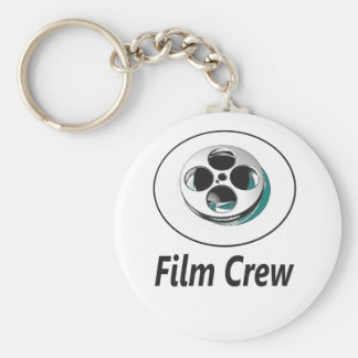 Film Crew Basic Round Button Key Ring