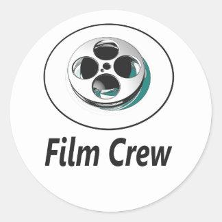 Film Crew Round Sticker
