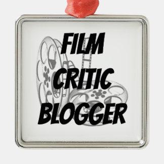 Film Critic Blogger Silver-Colored Square Decoration