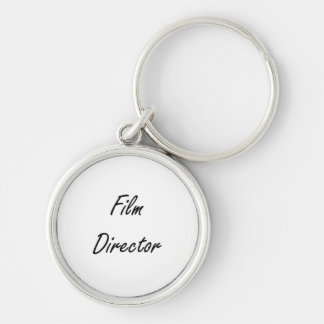 Film Director Artistic Job Design Silver-Colored Round Keychain