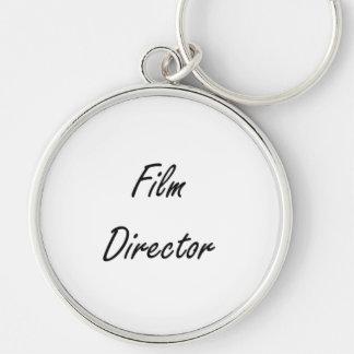 Film Director Artistic Job Design Silver-Colored Round Key Ring