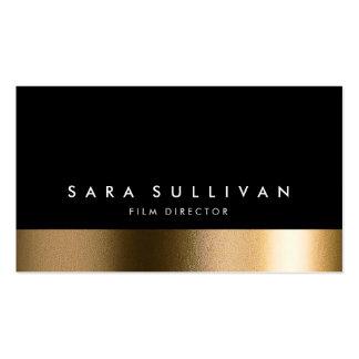 Film Director Bold Black Gold Business Card