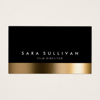 Film Director Bold Black Gold Business Card