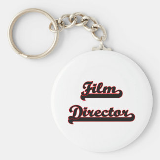 Film Director Classic Job Design Basic Round Button Key Ring