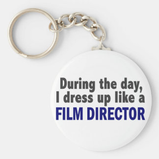 Film Director During The Day Basic Round Button Key Ring