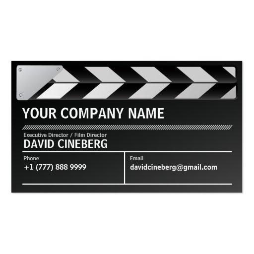 Create Your Own Film Director Business Cards